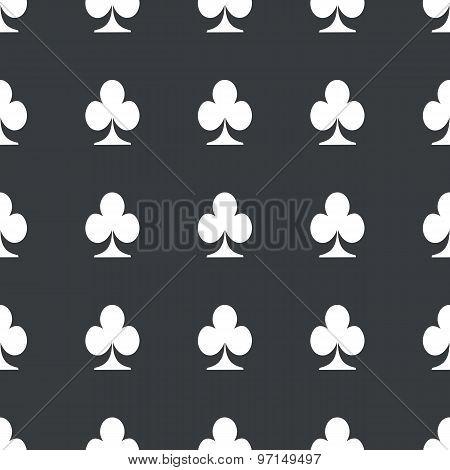Straight black clubs pattern