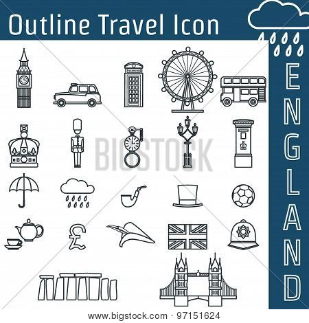 England Icon Outline