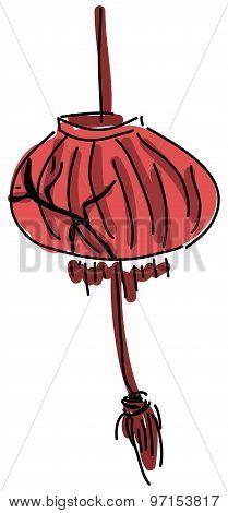 Drawn red lamp