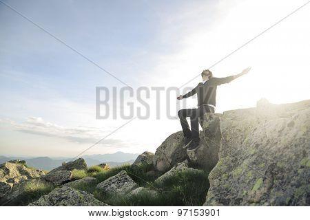Man feeling freedom