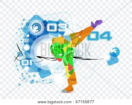 Martial arts fighter. Vector