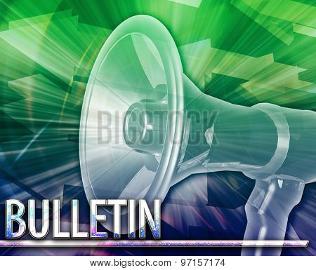 Abstract background digital collage concept illustration Bulletin announcement