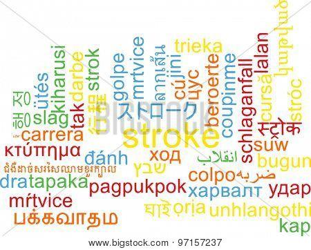 Background concept wordcloud multilanguage international many language illustration of stroke