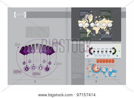 Open Magazine. Vector Illustration.