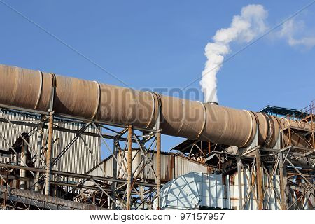 Steel pipes of the power station