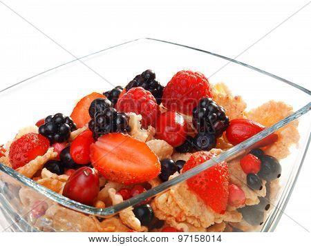Cereal Breakfast With Berries