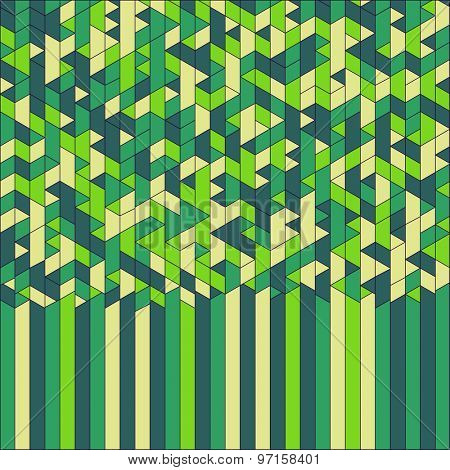 Green Maze. Abstract Geometric Background. Mosaic. Vector Illustration. Can Be Used For Wallpaper, Background, Book Cover.