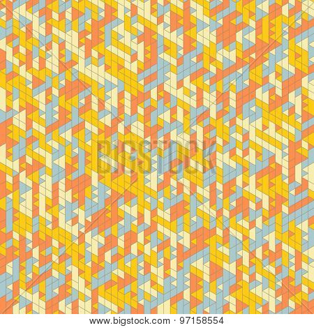 Abstract Background. Mosaic. Retro Colored Maze. Vector Illustration. Can Be Used For Wallpaper, Web Page Background, Book Cover.