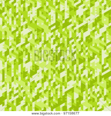 Abstract Background. Green Cubic Mosaic. Vector Illustration. Can Be Used For Wallpaper, Web Page Background, Book Cover.