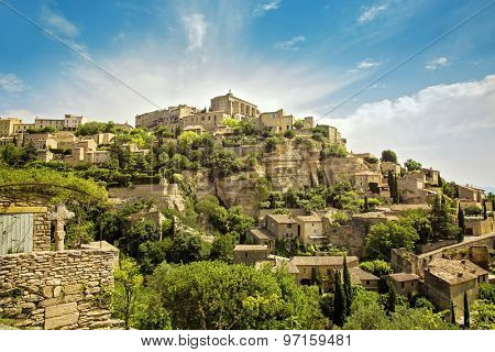 General view of the village of Gordes