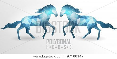 Abstract polygonal horse. Geometric hipster illustration