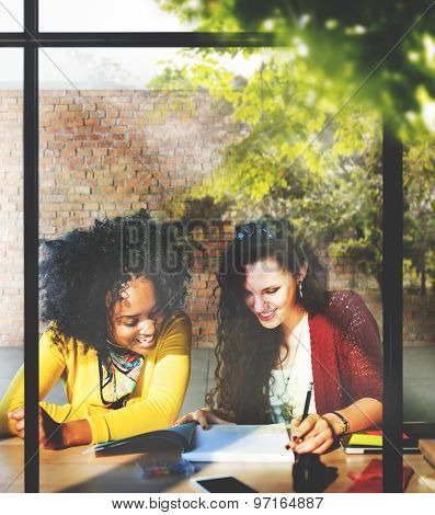 Ladies Women Working Together Project Concept