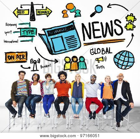 News Journalism Information Publication Update Media Concept