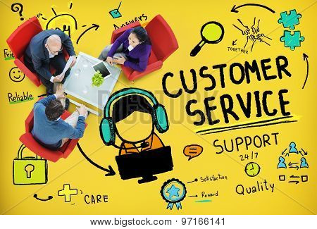 Customer Service Call Center Agent Care Concept
