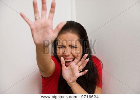 Woman Is Afraid