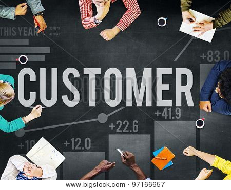 Customer Satisfaction Service Efficiency Loyalty Concept