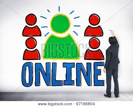 Online Connection Networking Internet Communication Concept