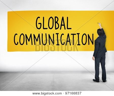 Global Communication Globalization Connection Communicate Concept