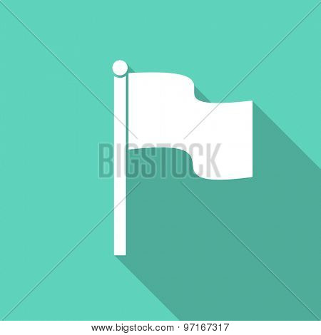 flag flat design modern icon with long shadow for web and mobile app