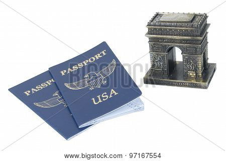 Arc De Triomphe And Passports