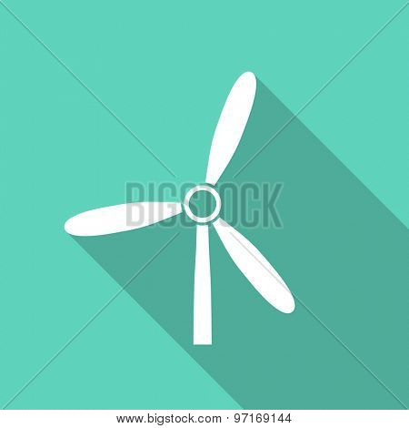 windmill flat design modern icon with long shadow for web and mobile app