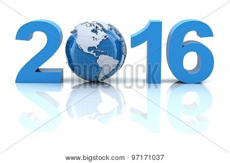 New year 2016 with globe