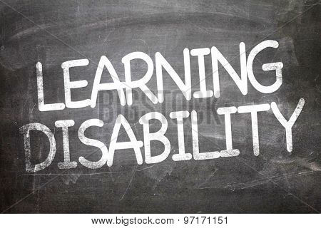 Learning Disability written on a chalkboard