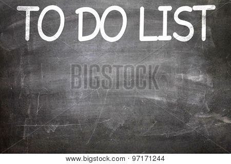 To Do List written on a chalkboard