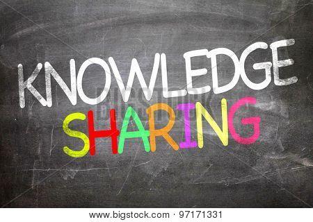 Knowledge Sharing written on a chalkboard