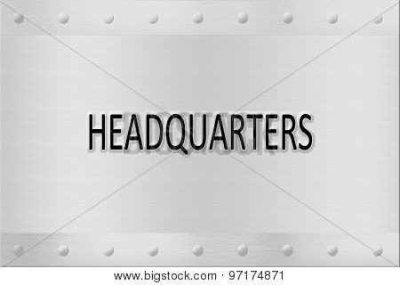 Headquartes Signboard