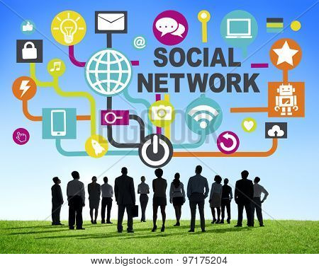 Business People Togetherness Connection Communication Social Network Concept