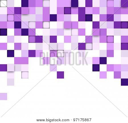Technology squares pattern banners. Vector background.