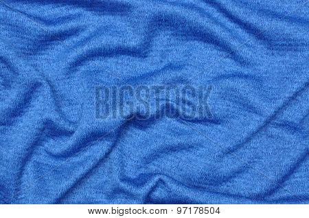 Blue draped fabric