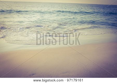 Beautiful beach on a sunny day at the end of the day