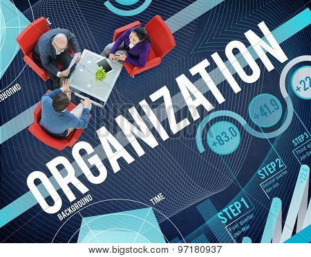 Organization Management Collaboration Team Structure Concept