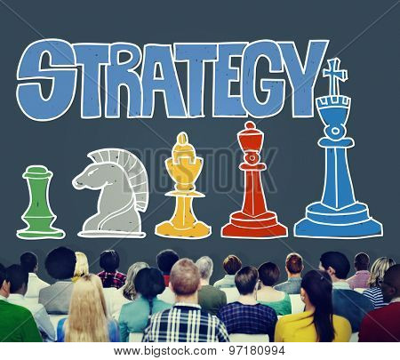 Strategy Tactics Playing Game Concept