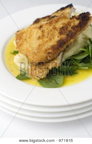 Hühnerschnitzel; Groß Ansicht, Shallow Dof