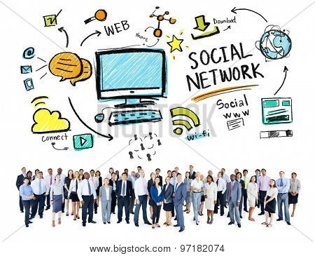 Social Network Social Media Business People Global Concept