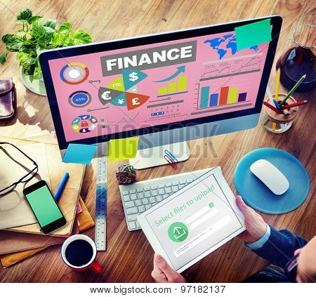 Chart Currency Loan Financial Growth Strategy Plan Concept