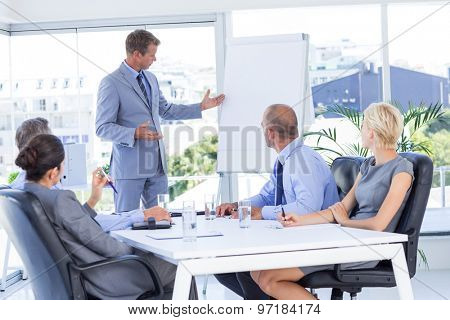 Business people listening during meeting in the office
