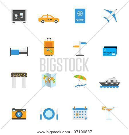 Travel and tourism vector icons