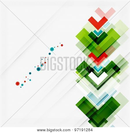 Clean colorful unusual geometric pattern design. Abstract background, online presentation website element or mobile app cover