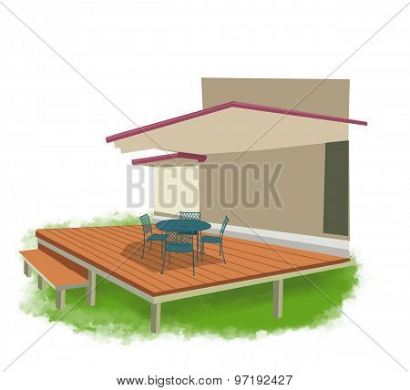 backyard illustration
