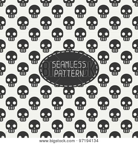 Geometric hipster seamless pattern with skulls and bones. Wrapping paper. Scrapbook paper. Tiling.
