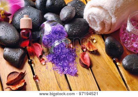 Black Stones, And Essences For Body Care