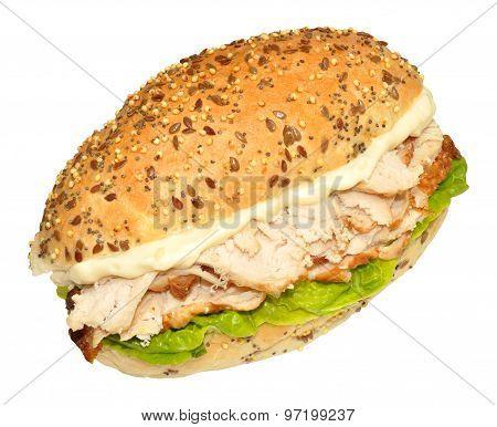 Fresh Chicken And Lettuce Sandwich
