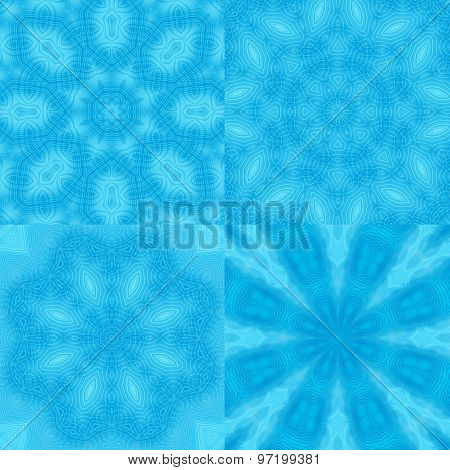 Abstract Blue Patterns