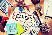 Постер, плакат: Career Talent Skill Talent Benefits Occupation Concept