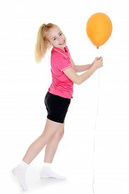 picture of little girls photo-models  - Beautiful young girl with long - JPG