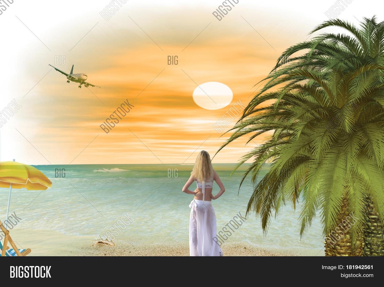Девушка и океан будущего